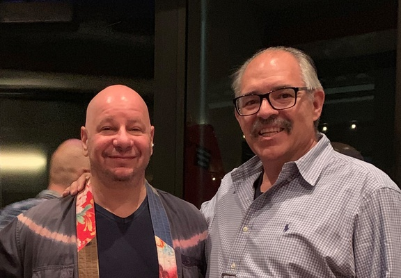 Paul Wright, Executive Director of the Human Rights Defense Center, with Jeff Ross, world famous comedian, RoastMaster General, and longtime PLN supporter. Dec 13, 2019