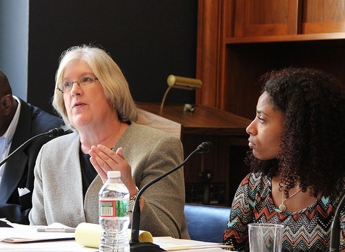 HRDC prison phone justice director Carrie Wilkinson at a 2015 Congressional Briefing (Photo: Mag-NET)