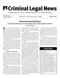March, 2019 Issue | Criminal Legal News