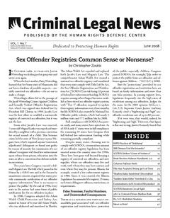 June, 2018 Issue | Criminal Legal News